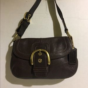 Authentic Coach small brown leather bag